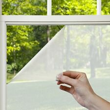 1.2m x 2m Privacy White Frosted Window Tint Film Frost Etched Glass Sticky Back