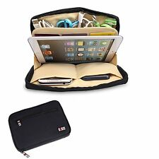 Black Universal Storage Accessories Travel Organiser iPad Mini,Tablet,USB,Cable