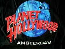 Planet Hollywood Amsterdam Black Tee Size L New NWT Neu