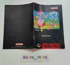 Super Nintendo SNES Kirby's Ghost Trap Notice / Instruction Manual - NOE