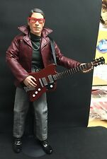 "1/6 12"" FIGURE WITH ELECTRIC GUITAR FENDER ROCK BBI HOT TOYS DRAGON DAM YAMAHA"