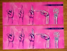 Special Ed Deaf Hard Hearing Sign Language ASL DRUGS Death 30x11 Lot 2 FREE PIN