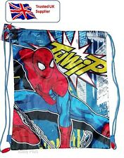 SPIDERMAN KIDS CHILDRENS GYM SWIM PUMP SHOOL BAG - OFFICIALLY LICENSED PRODUCT