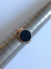 Fine Quality Antique 9ct Gold Gentlemans Signet Ring Set Polished Bloodstone