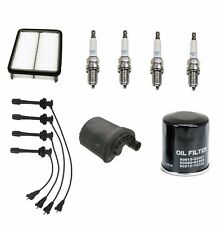 Toyota Corolla 01 Tune Up Kit Spark Plugs + Wire Set and Fuel + Oil + Air Filter