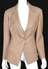 DONNA KARAN $2,495 NWT Blush Nude Double-Face Wool Blazer Jacket 6