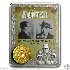 History of Public Enemies Al Capone 1oz silver  2015 embed 38 special Winchester