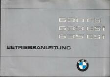 BMW 630 CS 633 CSI 635 CSi Betriebsanleitung 1979 E24 6er Bedienungsanleitung BA