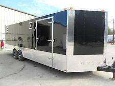NEW 2017 8.5 X 24 8.5X24 ENCLOSED RACE READY CARGO CAR HAULER TRAILER  LOADED !!