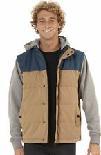 Men's Billabong Bushwick Quilted Hooded Jacket / Vest Size L. NWOT, RRP $129.95