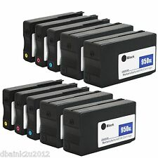 10 Pack New Gen HP 950XL 951XL Ink  for Officejet Pro 8610 8600 Plus Printer