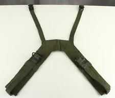 Vintage US Military E-62 1-89 Green Canvas Field Pack Combat Suspenders