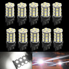 10Pcs 3157 3156 27SMD 5050 Reverse Brake Turn Tail Back Up LED Light Bulb White