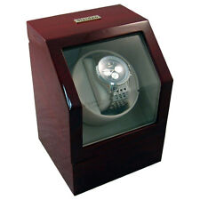 Heiden Battery Powered Operated Single Power Watch Winder Cherrywood Cherry