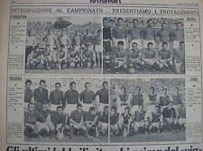 CALCIO 1951/52 SQUADRE NAPOLI COMO FIORENTINA BOLOGNA CAMPIONATO TUTTOSPORT