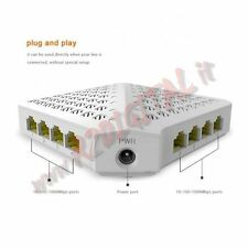 HUB SWITCH SG80 TENDA 8 PORTE 10/100/1000 ETHERNET SDOPPIATORE GIGA LAN GIGABIT
