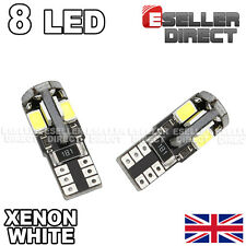 2x BULBS T10 8 SMD LED SIDELIGHTS 6000K WHITE NO ERROR AUDI A4 B7 8E 2004-2007
