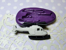 Silicone Mold Helicopter Mould (36mm) Cupcake Topper Dollhouse Clay Jewelry PMC