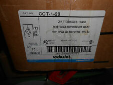 REDODOT WEATHERPROOF SWITCH COVERS CCT-1-20 WITH TOGGLE SWITCH 20 AMP 120-277 V