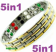 Magnetic Energy Germanium  Power Bracelet Health 5in1 Bio Armband Pure TITANIUM