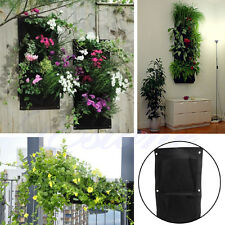 New 4-Pocket Indoor Outdoor Wall Balcony Garden Vertical  Hanging Planter Bag