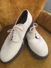 Bass Mens Shoes 9.5 Middlebury Oxford Winter White Suede Leather