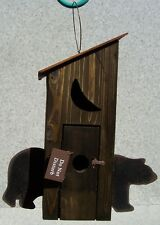 Bird House Black Bear NEW wood and corrugated sheet metal