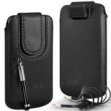 MAGNETIC PU LEATHER PULL TAB CASE COVER & 3.5MM JACK CABLE FOR BLACKBERRY SETS