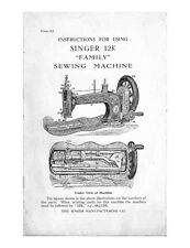 Singer 12K Sewing Machine/Embroidery/Serger Owners Manual