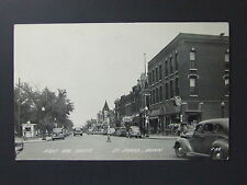 St. James Minnesota MN Real Photo RPPC First Ave South Signs Popcorn Cars 1949