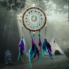 """Handmade Dream Catcher with feather wall hanging decoration ornament-16"""" Long"""
