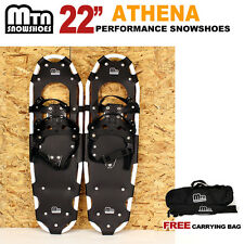 """New MTN Man Woman Kid Teen up to 155 lbs Free Bag WHITE-22"""" Snowshoes"""