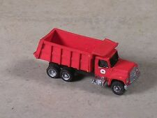 N Scale 2004 Red International Dump Truck with red back.