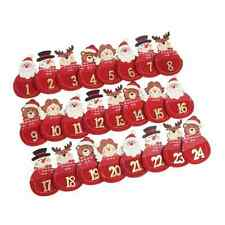 24 Wooden Bauble Advent Countdown Peg Clips Christmas Card Holder Decoration