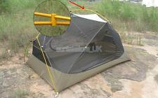 360 Degree Gold Aluminium Alloy Camping Tent Pole Crossover Clamp Buckle 7mm