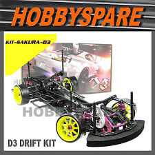 NEW 1/10 SAKURA D3 CS SPORT DRIFT RC CAR BELT DRIVE 4WD EP KIT Unassembled