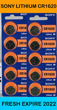 Sony CR1620 CR 1620 Lithium 3V Batteries pack 10