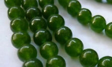 HOT! 6mm natural emerald gemstone beads 15""