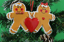 PERSONALISED CHRISTMAS TREE DECORATION ORNAMENT GINGERBREAD FAMILY OF 2