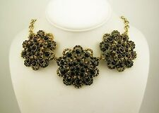 """Kenneth Jay Lane Faceted Crystal Bib Necklace """"Couture Collection""""  MADE IN USA"""