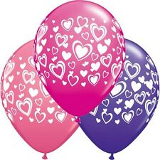Party Supplies Decorations Wedding Love  Double Hearts Latex Balloons Pack of 10