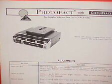 1973 AUTOMATIC 8-TRACK STEREO TAPE PLAYER/FM-MPX RADIO SERVICE MANUAL SPE-5004B