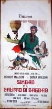 locandina 1973 SIMBAD E IL CALIFFO DI BAGDAD-Robert Malvom-Sonia Wilson-Fantasia