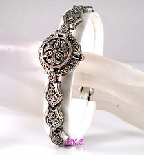 Summer Offer Renaissance Nouveau Baroque Antique Style Marcasite Filigree Watch