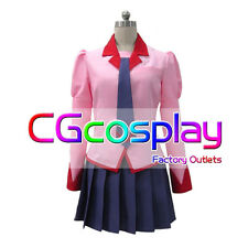 Free Shipping Cosplay Costume Bakemonogatari Senjougahara Hitagi Uniform New