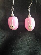Pendientes De Conejo Rosa, Pascua Bunny, Huevo De Pascua-sólo uno disponible!