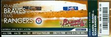 2011 Braves vs Rangers Ticket: Brian McCann Home Run/Adrian Beltre's RBI single