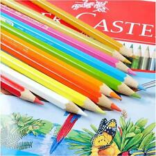 New 48 Colors Watercolor Drawing Set Colored Pencils FABER-CASTELL & Brush Set