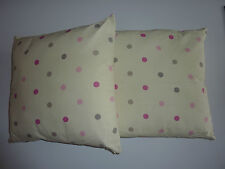 NEXT 2 Cream Polka Dot SHOWER RESISTANT Outdoor Cushions NWT