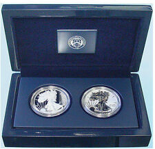 2013 W AMERICAN EAGLE WEST POINT TWO-COIN SILVER SET ENHANCED REVERSE PROOF COA.